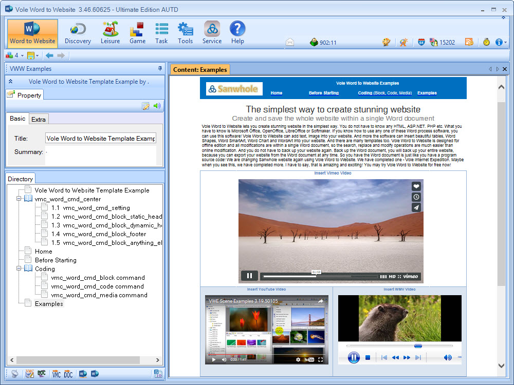 Vole Word to Website Portable 3.55.61016 full